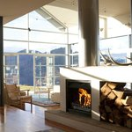 Whare Kea Lodge & Chalet winter fire