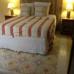 Our lovely bedroom with stunning tile floors!