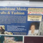 Billboard in Galway of Roundstone Music & Crafts