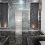 Interesting foyer water feature