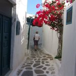 A pretty little street in Mykonos Town