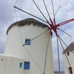 Windmill at Mykonos Town, Mykonos Island, Greece