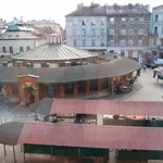 Nowy place with the market