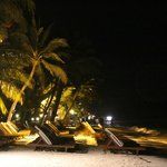The beach at night