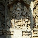 lord narasimha on walls of somanthpur temple