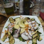 Yummy octopus salad