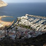 View of Puerto de Mogan from mountain opposite Cordial Mogan Valle