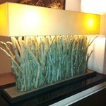 Charming 'Bleu Nature' driftwood lamp in Reception area sets the delightful tone of this hotel