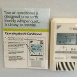 Thermostat with instructions