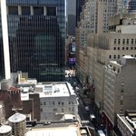 view from out room, Times Square at the end of the street!