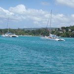 View from our Catamaran during the Cool Runnings trip to Dunns River Falls!!