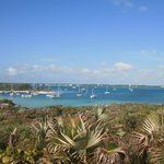 Blick von Stocking Island nach Great Exuma
