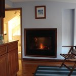 my suite..fireplace