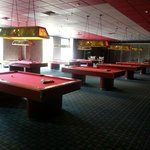Pool tables in the Arcade