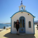 litlle chapel on the beach from analipsis