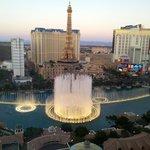 View of fountains from room.