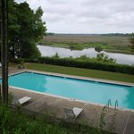 Overlooking the pool, looking toward the river