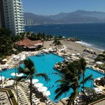 Another view of pool, Banderas Bay and downtown PV from room 735