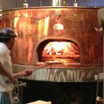 Wood fired oven at Pizzeria Lola