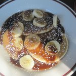 Awesome banana's foster pancakes