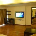 "Spacey suite with two 42"" LCD TVs"