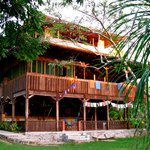 Our main lodge is built with 100% reclaimed sustainable timber, housing our Yoga Studio, Confere