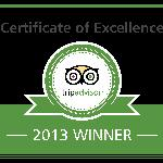  2013 Certificate of Excellence