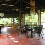 open air veranda for relaxing and dining