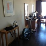 Elliptical machine in room!