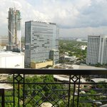 View of Greenbelt and Makati from our room at BSA Tower