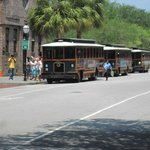 Trolley stop at Visitor Center