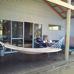Relax on hammock or in spa
