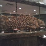wooden carved fish decor
