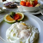 Breakfast - perfectly poached eggs