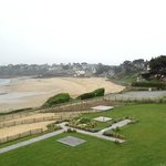 Beach at Dinard just below the hotel.