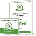 Great news! The Eiders Bed and Breakfast has earned a 2013 Certificate of Excellence