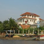 View of the hotel from the Mekong River