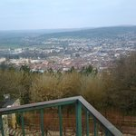 View from the top of the Hill down on Vesoul and Hotel