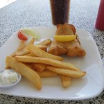 Deep fried dory in tempura batter and chips