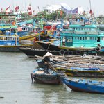 The colourful Phan Thiet fishing harbour