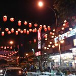 the night scene outside the hotel