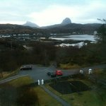 View of Canisp & Suilvan from suite window