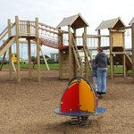 Newly installed adventure playground