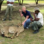 With the cheetah during our interaction