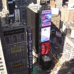 View of Times Square from hotel - 37th floor