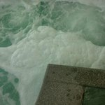 Lovely hot tub foam