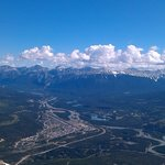 The view of Jasper from the top of the Jasper Tramway.