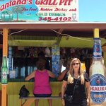 In front of Santana's, Williamstown, Little Exuma
