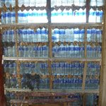 Walls made from water bottles