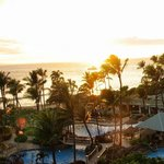 Kaanapali beach panoramic view from our room.